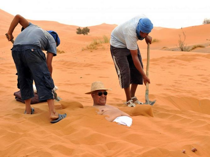 Sand Bath in Merzouga